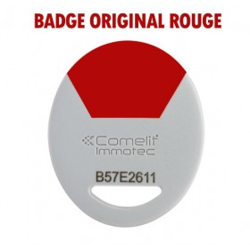 badge comelit rouge
