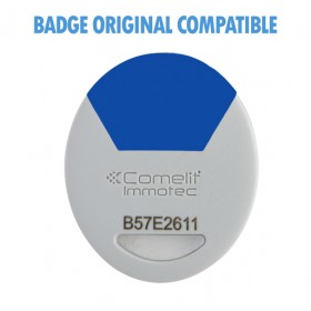 badge comelit bleu