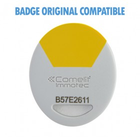 badge comelit jaune