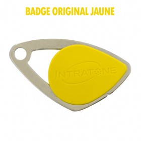 badge intratone jaune
