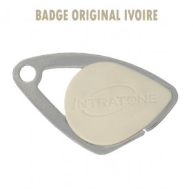 Badge intratone ivoire