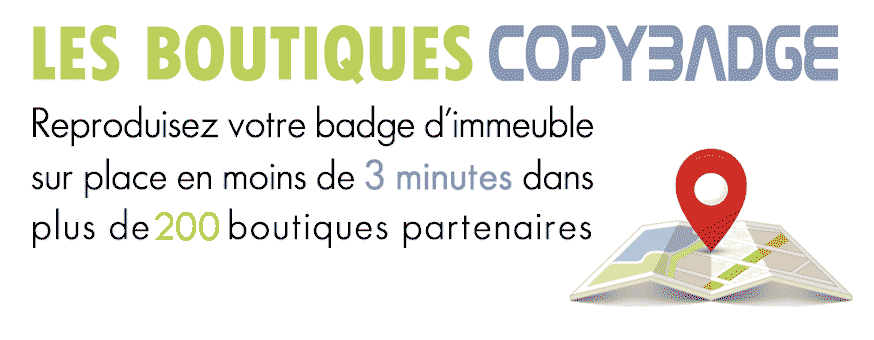 Copie de badge d'immeuble Aiphone